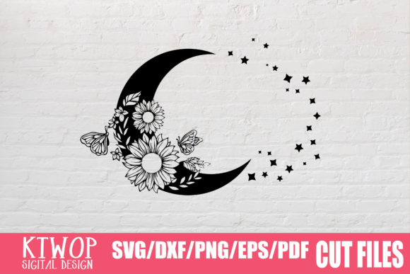 Print on Demand: Moon Butterfly Sunflower Bundle  Graphic Crafts By KtwoP - Image 20