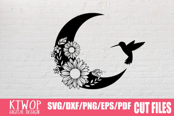 Print on Demand: Moon Butterfly Sunflower Bundle  Graphic Crafts By KtwoP - Image 7