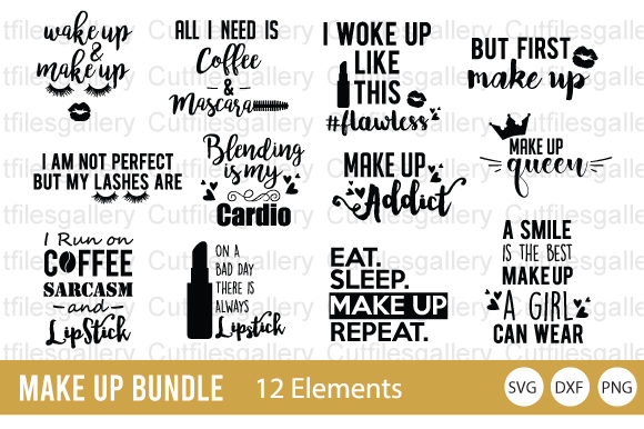 Make Up Bundle  Graphic Crafts By cutfilesgallery