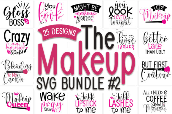 Print on Demand: Makeup Bag Bundle Graphic Print Templates By Designdealy.com