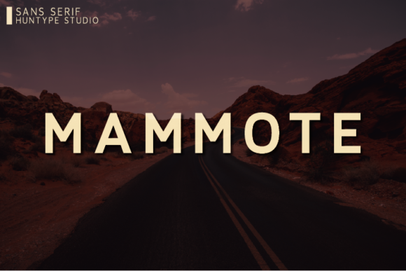 Print on Demand: Mammote Sans Serif Font By Huntype