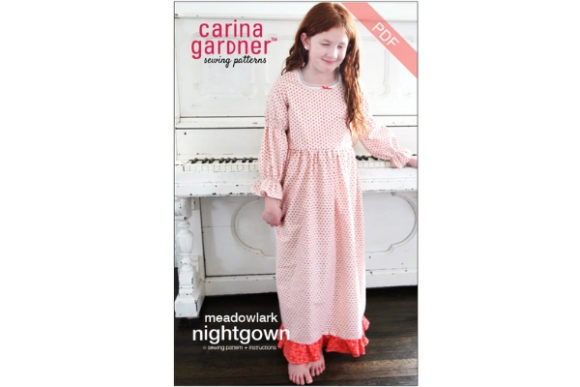 Meadowlark Nightgown Sewing Pattern Graphic By Carina2