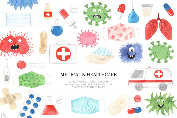 Download Free Medical Healthcare Clipart Graphic By Larysa Zabrotskaya for Cricut Explore, Silhouette and other cutting machines.