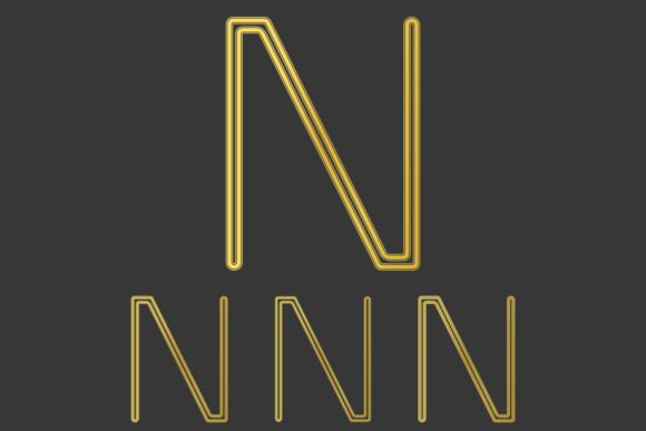 Download Free Metallic Line Letter N Logo Design Set Graphic By Davidzydd for Cricut Explore, Silhouette and other cutting machines.