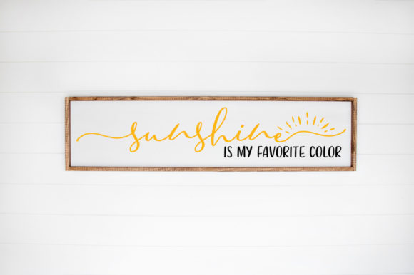 Print on Demand: My Favorite Color is Sunshine Graphic Crafts By Simply Cut Co