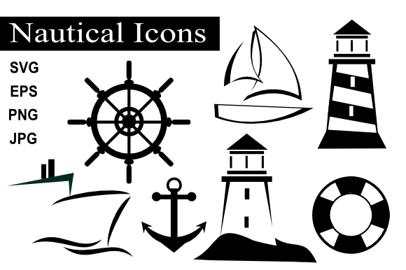 Print on Demand: Nautical Icons Graphic Objects By artbyliz