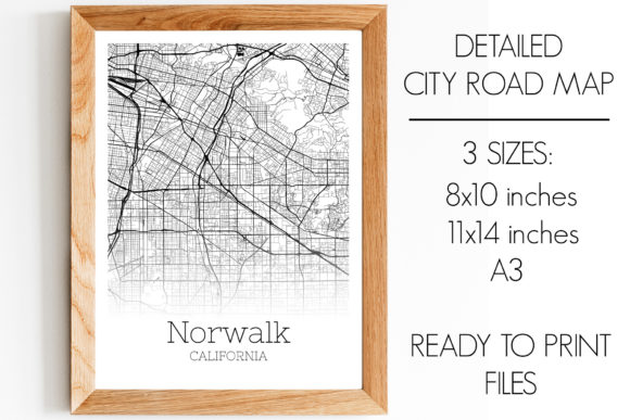 Print on Demand: Norwalk California City Map Graphic Photos By SVGExpress