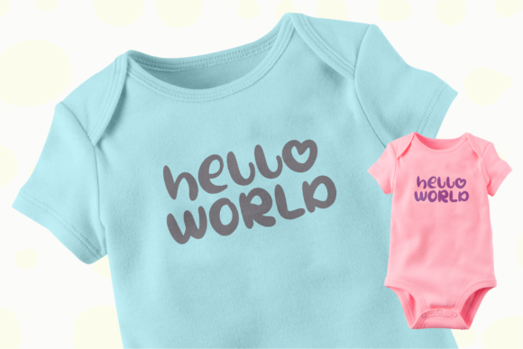Oh My Baby Font Design