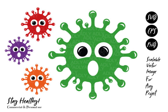 Print on Demand: Oh Virus Panmdemic Covid-19 Baby Design Graphic Illustrations By adlydigital