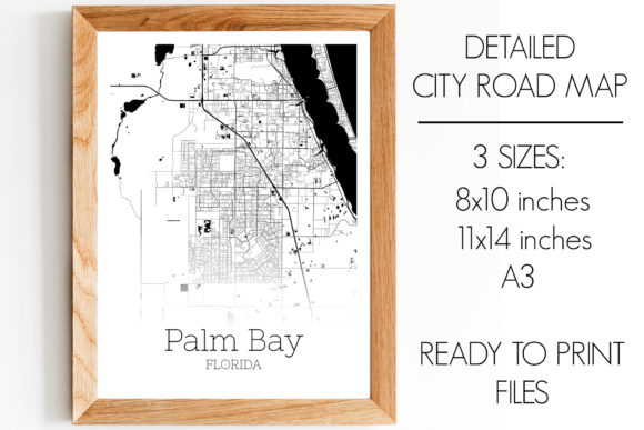 Print on Demand: Palm Bay Florida City Map Graphic Photos By SVGExpress