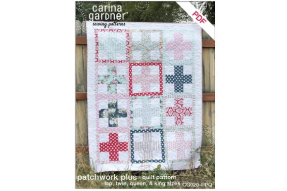 Patchwork Plus Quilt Sewing Pattern Graphic Quilt Patterns By carina2 - Image 1