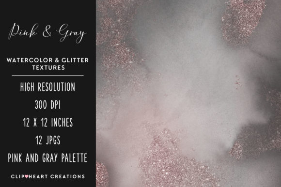 Download Free Pink Gray Glitter Watercolor Digital P Graphic By for Cricut Explore, Silhouette and other cutting machines.