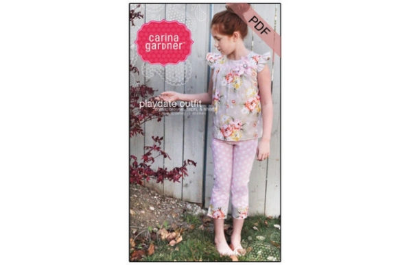 Playdate Outfit Sewing Pattern Graphic Sewing Patterns By carina2 - Image 1