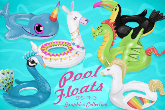 Pool Float Characters Graphics Graphic Illustrations By Dapper Dudell
