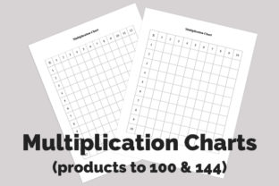 Print on Demand: Printable Blank Multiplication Charts Graphic 2nd grade By CliffviewGraphics