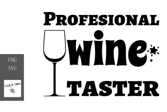 Print on Demand: Profesional Wine Taster 2 Graphic Illustrations By Fleur de Tango