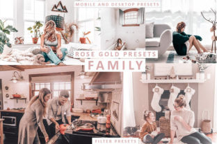 Rose Gold Mobile and Desktop Presets Graphic Actions & Presets By Visual Filters