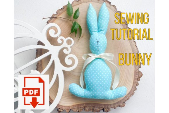 Rabbit Toy Easter Sewing Pattern Graphic