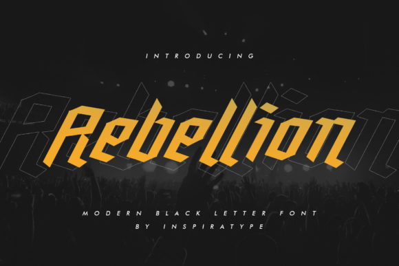 Print on Demand: Rebellion Blackletter Font By InspiraType