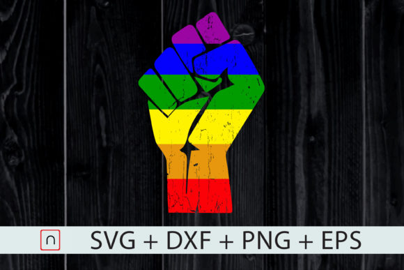 Download Free Resist Fist Rainbow Flag Gay Pride Graphic By Novalia Creative for Cricut Explore, Silhouette and other cutting machines.
