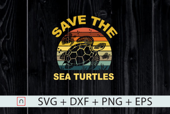 Print on Demand: Sea Turtle Save the Ocean Earth Graphic Print Templates By Novalia