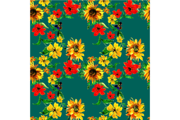 Print on Demand: Seamless Flowers  Pattern Graphic Patterns By kakva
