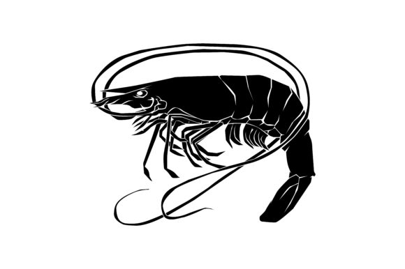 Download Free Shrimp Silhouette Graphic By Rfg Creative Fabrica for Cricut Explore, Silhouette and other cutting machines.