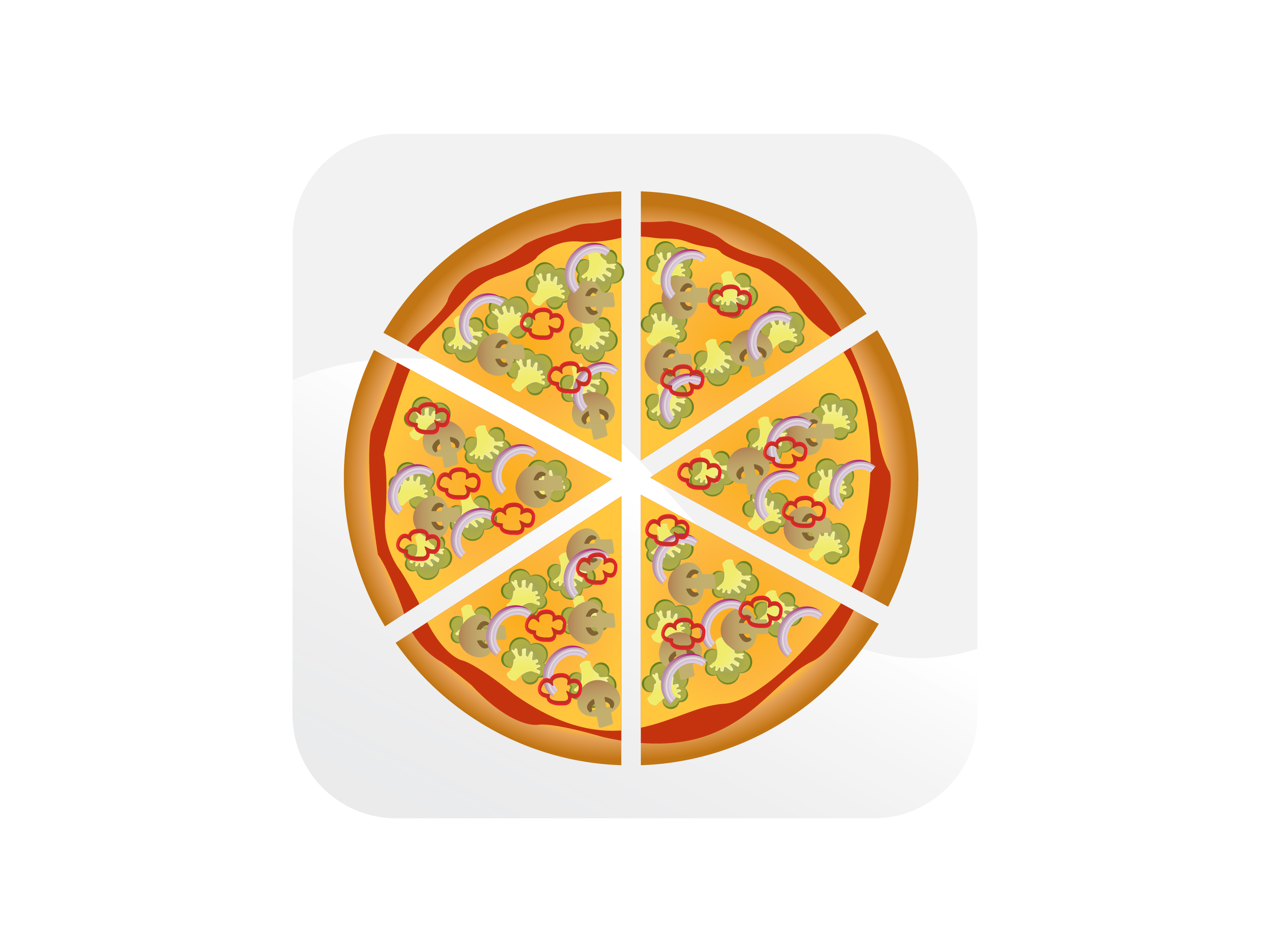 Download Free Six Slice Pizza Meat Lovers Icon Graphic By Samagata Creative for Cricut Explore, Silhouette and other cutting machines.