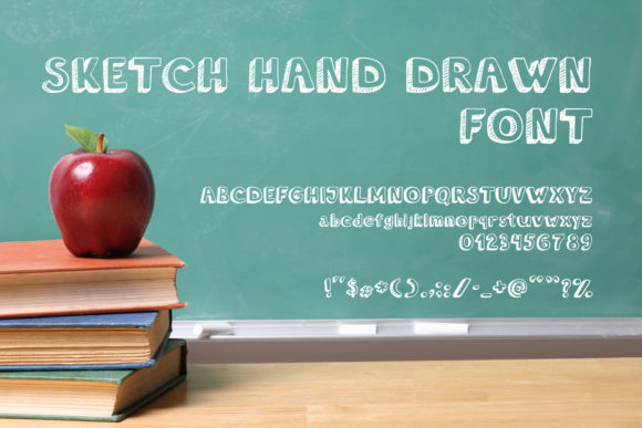 Print on Demand: Sketch Hand Drawn Script & Handwritten Font By OWPictures