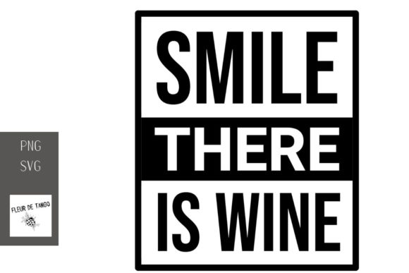 Print on Demand: Smile There is Wine 9 Graphic Illustrations By Fleur de Tango