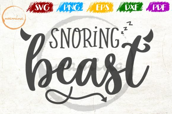 Download Free Snoring Beast Graphic By Uramina Creative Fabrica for Cricut Explore, Silhouette and other cutting machines.