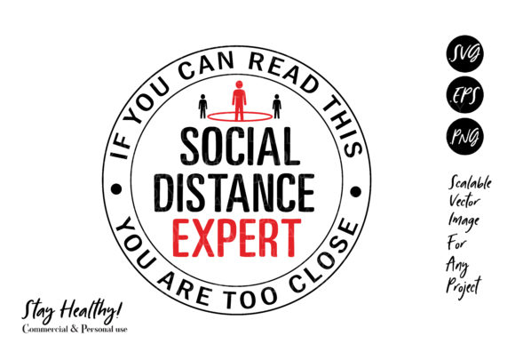 Download Free Social Distance Expert Virus Design Graphic By Adlydigital for Cricut Explore, Silhouette and other cutting machines.
