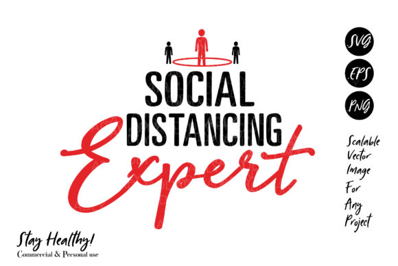 Print on Demand: Social Distancing Expert Vector  Graphic Illustrations By adlydigital