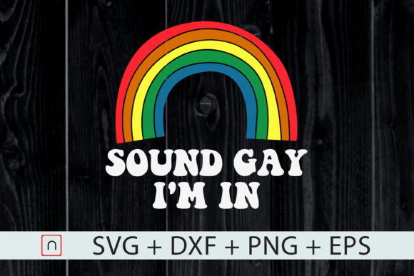 Download Free Sounds Gay I M In Vintage Style Graphic By Novalia Creative for Cricut Explore, Silhouette and other cutting machines.