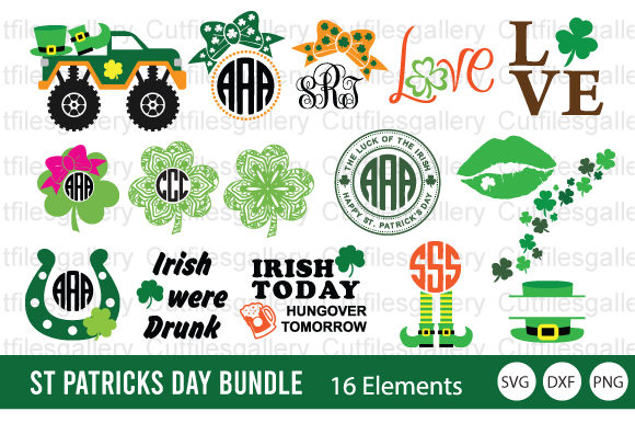 St. Patrick's Day Bundle Graphic Crafts By cutfilesgallery