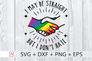 Print on Demand: Straight Don't Hate LGBTQ Pride   Graphic Print Templates By Novalia