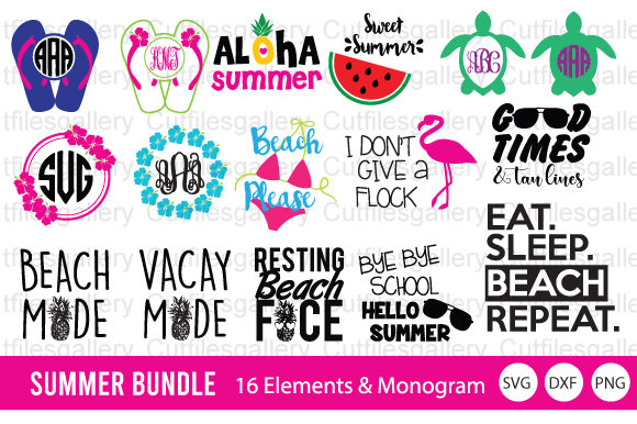 Summer Bundle  Graphic Crafts By cutfilesgallery