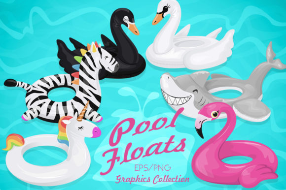 Summer Pool Float Illustrations Graphic Illustrations By Dapper Dudell