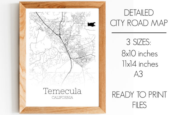 Print on Demand: Temecula California City Map Graphic Photos By SVGExpress