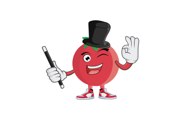 Download Free Tomato Fruit Cartoon Character Design Graphic By for Cricut Explore, Silhouette and other cutting machines.
