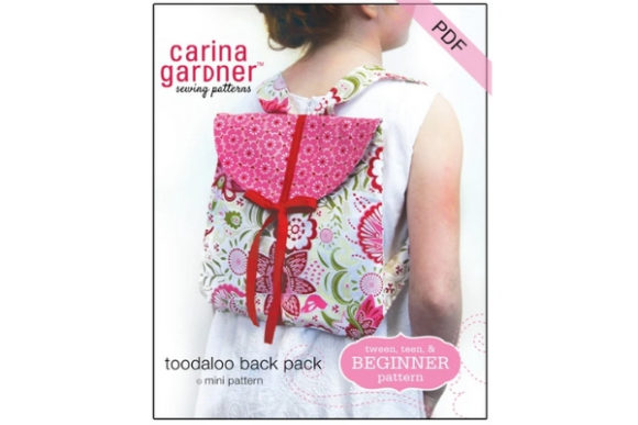 Toodaloo Back Pack Sewing Pattern Graphic Sewing Patterns By carina2 - Image 1