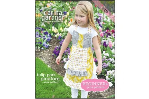 Tulip Park Pinafore Sewing Pattern Graphic Sewing Patterns By carina2 - Image 1
