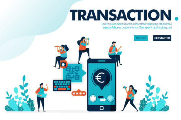 Download Free Vector Illustration Safe Mobile Banking Graphic By SVG Cut Files