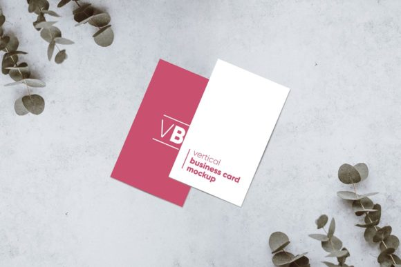 Download Free Vertical Business Card Mockup Graphic By Krisjanis Creative for Cricut Explore, Silhouette and other cutting machines.