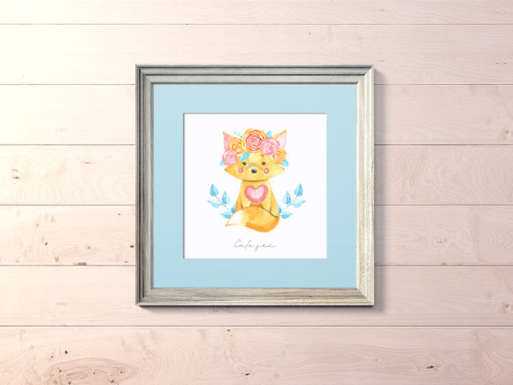 Download Free Watercolor Cute Fox Cliparts Graphic By Natalimyastore for Cricut Explore, Silhouette and other cutting machines.