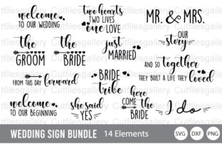 Download Free Wedding Sign Bundle Graphic By Cutfilesgallery Creative Fabrica for Cricut Explore, Silhouette and other cutting machines.