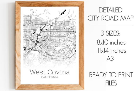 Print on Demand: West Covina California City Map Graphic Photos By SVGExpress
