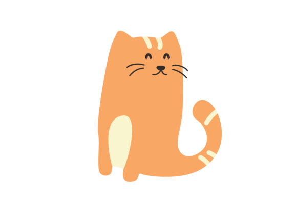 Download Free Cute Cat Vector Graphic By Sasongkoanis Creative Fabrica for Cricut Explore, Silhouette and other cutting machines.