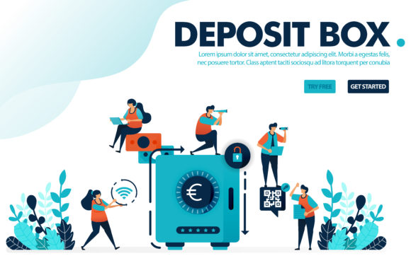 Download Free Illustration Concept Of Safe Deposit Box Graphic By for Cricut Explore, Silhouette and other cutting machines.