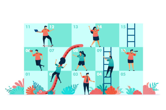 Download Free Illustration Of Snakes And Ladder Graphic By Setiawanarief111 for Cricut Explore, Silhouette and other cutting machines.
